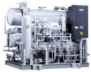 NewTon 3000 cascade ammonia (NH3) with carbon dioxide (CO2) as secondary refrigerant.
